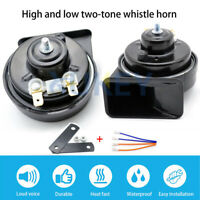 12V 125db Car Snail Horn High Low Tone Waterproof For Automobile Motorcycle