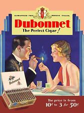 Cuba Cuban Havana Habana Dubonnet Cigar Cigars Travel  Advertisement Poster