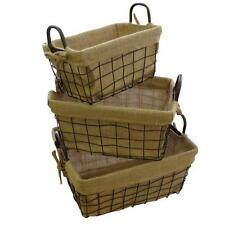 Metal Rectangular Traditional Decorative Baskets