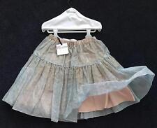 RED Valentino $595 NWT 2 /40 Silk Tulle full Skirt Drop waist aqua gold w Hanger