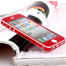 Durable Red Bling Bumper Full Body Skin Decal Sticker Decor for iPhone 5 5G