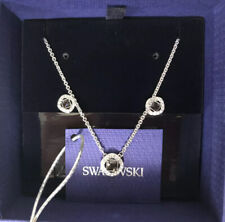 NEW SWAROVSKI Women's Angelic Square SET, necklace & earrings Rhodium plated