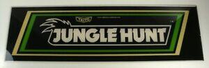 Taito Jungle Hunt Arcade Marquee Header - REAL Authentic Original 22.75 x 6.75