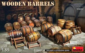 Miniart 35632 Wooden Barrels (Accessories for model), scale plastic kit 1:35