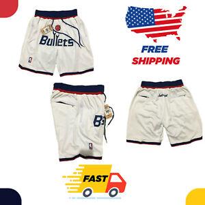 Washington Wizards Vintage Basketball Shorts Men's NWT Stitched Pants Bullet