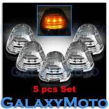 99-15 Ford Super Duty F250+F350+F450 5pcs Cab Roof AMBER LED Lights CLEAR Lens