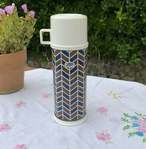 Retro Metal Travel Boots Thermos Vacuum Flask Picnic Camper Camping Coffee 0.45L