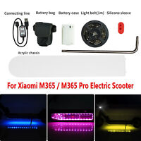 1 Set LED Light Strip Lamp Belt Pour Xiaomi M365/M365 Pro Trottinette électrique