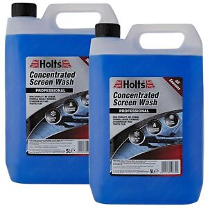 2 x Holts All Seasons Windscreen Screen Wash High Power Concentrated 5 Litre 5L