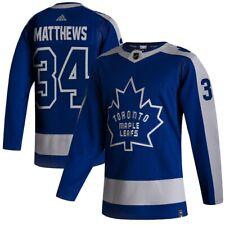 Toronto Maple Leafs Adidas синий 2020/21 обратный ретро Остон Мэтьюс НХЛ Джерси