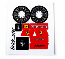 Custom 'Pre-Cut' stickers for LEGO 8653 Enzo Ferrari ,toys, models, etc