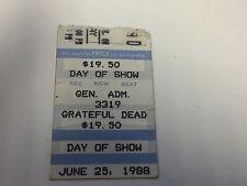 Grateful Dead Ticket Stub 6/25/88