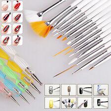 NEW Set Of 20Pcs Nail Art Design Dotting Painting Drawing Polish Brush Pen Tools