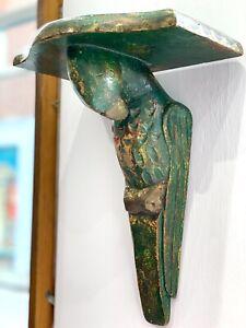 Pair Of Decorative Vintage Wood Parrot Sconce Shelves