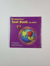 Social Studies Exam View Test Bank CD-ROM Bilingual English Spanish PC Mac