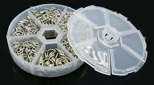JUMP RING MIX 4-10mm in Handy Container Platinum color JumpRings Over 2,000 pcs
