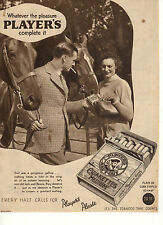 Original Vintage Magazine Advert PLAYERS MEDIUM NAVY CUT Cigarettes(1935)