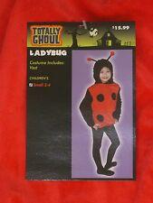 Ladybug Halloween Costume One Piece Vest Lady Bug Size Small 2 - 4