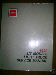 1990 GMC S/T Light Truck Repair Service Manual