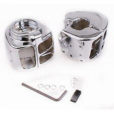 Switch Housing Chrome Cover For Harley Davidson Dyna Springer Dyna Glide Softail
