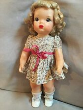 Doll Terri Lee Patent Pendind Blonde tagged Dress  1950's