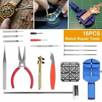16 PCS Watch Repair Tools Kit Wrist Spring Pin Strap Link Back Opener Remover US