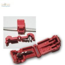 100 Connecteur de dérivation pour cosses de câble Rouge 0,5 -1, 5 mm ²