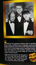 """NEW--The 3 Stooges Collector's Edition 14"""" Dolls in Boxes--Never out of boxes"""