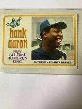 1974 Topps #1 Hank Aaron All-Time Home Run King