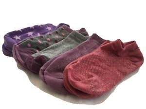 Women's No Show Socks Size 7-9 Purple, Pink, Gray (set of 5 pairs) NWOT