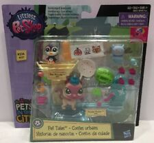 Littlest Pet Shop PETS IN THE CITY Tales #236 #237 Ice Skating Playset NIB (CC12