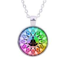 UK CHAKRA MANDALA PENDANT NECKLACE Jewellery Gift Idea Reiki Meditation Yoga