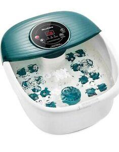 Foot Spa Bath Massager with Heat, Bubbles & Vibration, Digital Temperature...