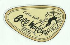 BILL WALLACE SURFBOARDS Sticker / Decal 1960's Australian surfing !!
