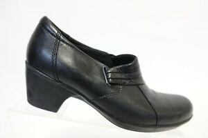 CLARKS Black Sz 7.5 M Women Leather Booties