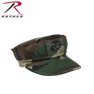 Cap Marine Corps w/EGA Emblem 5 Point Woodland Camo Polycotton Size XS-XL Rothco