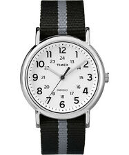 New Timex TW2P72200 Weekender Grey & Black Stripe Nylon Watch