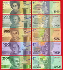 INDONESIA SET 1000 2000 5000 10000 & 20000 Rupiah 2016 (2017) Pick NEW  SC / UNC
