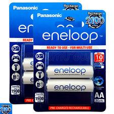 4 x Panasonic Eneloop AA batteries 1900mAh Rechargeable Ni-MH BK-3MCCE Pack of 2