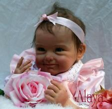 Nicery Reborn Baby Doll Soft Simulation Silicone Girl Toy 22in. 55cm Pink Flower