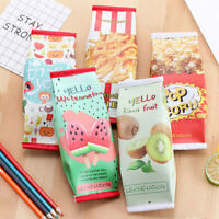 Cute Milk Box Pen Pencil Case Pouch Makeup Toiletry Brush Holder Stationery Bag