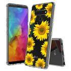 For LG Stylo 6 6+ Plus Aquaflex Hybrid Bumper Shockproof Case Sun Flower Bloom