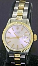 Rolex Oyster Perpetual Date 6516 SS/14K gold automatic men's watch w/Oyster band