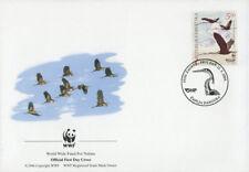WWF  UCCELLI  FDC CROAZIA BUSTA PRIMO GIORNO 2004 AIRONE 4/4