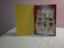 For Arts Sake - Christmas Card - Cat and Dog Angel sing - Joy to the World