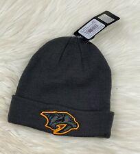Nashville Predators NHL Adult Cuff Knit Winter Beanie Hat Charcoal Gray NWT