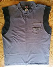 Harley Davidson Sleeveless Muscle Shirt Chi-Town Chicago Tinley Park IL Division
