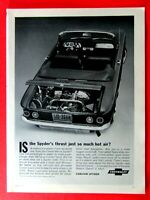 1963 Chevrolet Corvair Spyder Convertible Original Print Ad-8.5 x 11