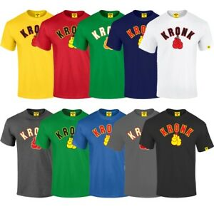 Kronk Boxing Gloves T-Shirt Adult Cotton Training Tee Mens Gym Workout Top