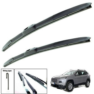 """Fits Jeep Cherokee 2013-On Hybrid Wiper Blades Set Of Front 26""""18"""""""